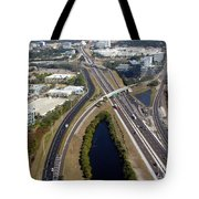 Aerial View Of City Of Tampa Tote Bag