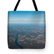 Aerial View Of Earth In Usa Tote Bag