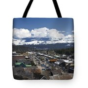 Aerial View Of Historic Downtown Truckee California Tote Bag