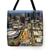 Aerial View Of Los Angeles Tote Bag