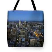 Aerial View Of Melbourne At Night Tote Bag