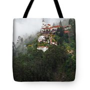 Aerial View Of Monserrate Church Tote Bag