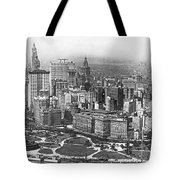Aerial View Of Nyc Battery Tote Bag