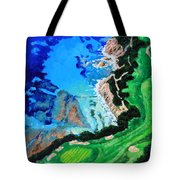 Aerial View Of Pebble Beach Tote Bag