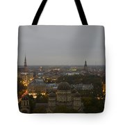Aerial View Of Riga Tote Bag