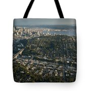 Aerial View Of Seattle Tote Bag