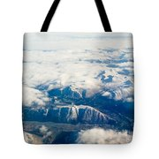 Aerial View Of Snowcapped Mountains In Bc Canada Tote Bag
