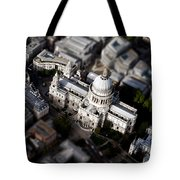 Aerial View Of St Pauls Cathedral Tote Bag