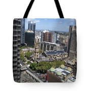 Aerial View Of Sydney City Hall Tote Bag