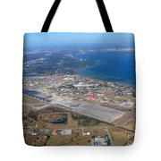 Aerial View Of Tampa And St. Petersburg Tote Bag