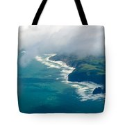 Aerial View Of Tasman Sea Shore Nz North Island Tote Bag