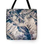 Aerial View Of The Mountains Tote Bag