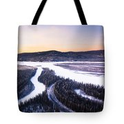 Aerial View Of The Tanana River Valley Tote Bag