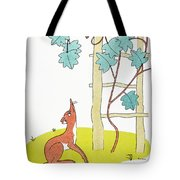 Aesop: Fox And Grapes Tote Bag