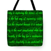 Aesthetic Quote 1 Tote Bag