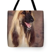 Afghan Hound Dog, Portrait Tote Bag