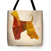 Afghan Hound Poster Tote Bag by Naxart Studio