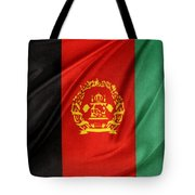 Afghanistan Flag Tote Bag by Les Cunliffe