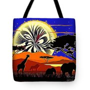 Africa At Sunset  Tote Bag