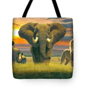 Africa Triptych Variant Tote Bag