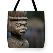 African Aging Wooden Sculpture Tote Bag