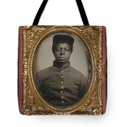 African American Union Soldier Tote Bag