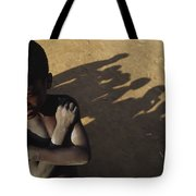 African Boy, Bare-chested, Arms Crossed Tote Bag