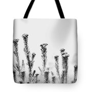 African Bushland-black And White Tote Bag