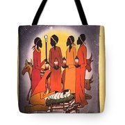 African Christmas Nativity Tote Bag
