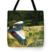 African Crowned Crane Painting Tote Bag