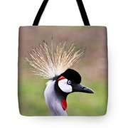African Crowned Crane Portrait Tote Bag