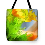 African Daisy I - Digital Paint Tote Bag