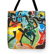 African Dancers No. 3 Tote Bag