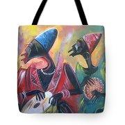 African Drumming Group Tote Bag