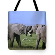 African Elephant Greeting Endangered Species Tanzania Tote Bag