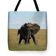 African Elephant Masai Mara Kenya Tote Bag