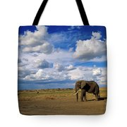 African Elephant Walking Masai Mara Tote Bag