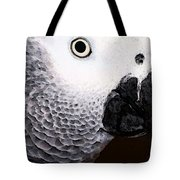 African Gray Parrot Art - Seeing Is Believing Tote Bag