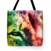African Lion Eyes 2 Tote Bag