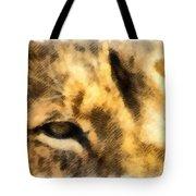 African Lion Eyes Tote Bag