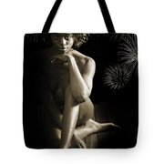 Chynna African American Nude Girl In Sexy Sensual Photograph And In Black And White Sepia 4791.01 Tote Bag