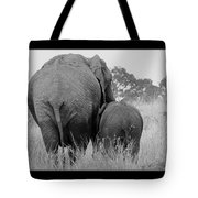 African Safari Elephants 3 Tote Bag