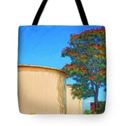 African Tulip And Fuel Tanks Tote Bag