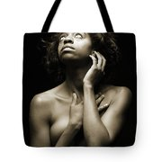 Chynna African American Nude Girl In Sexy Sensual Photograph And In Black And White Sepia 4789.01 Tote Bag
