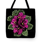 African Violets Bedazzled Tote Bag