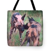 African Wild Dogs Tote Bag