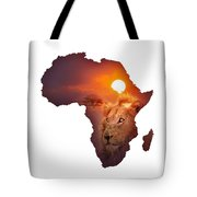 African Wildlife Map Tote Bag