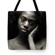 Chynna African American Nude Girl In Sexy Sensual Photograph And In Black And White Sepia 4784.01 Tote Bag