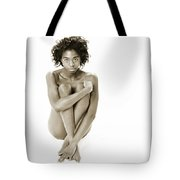 Chynna African American Nude Girl In Sexy Sensual Photograph And In Black And White Sepia 4783.01 Tote Bag