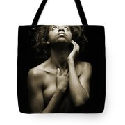 Chynna African American Nude Girl In Sexy Sensual Photograph And In Black And White Sepia 4782.01 Tote Bag